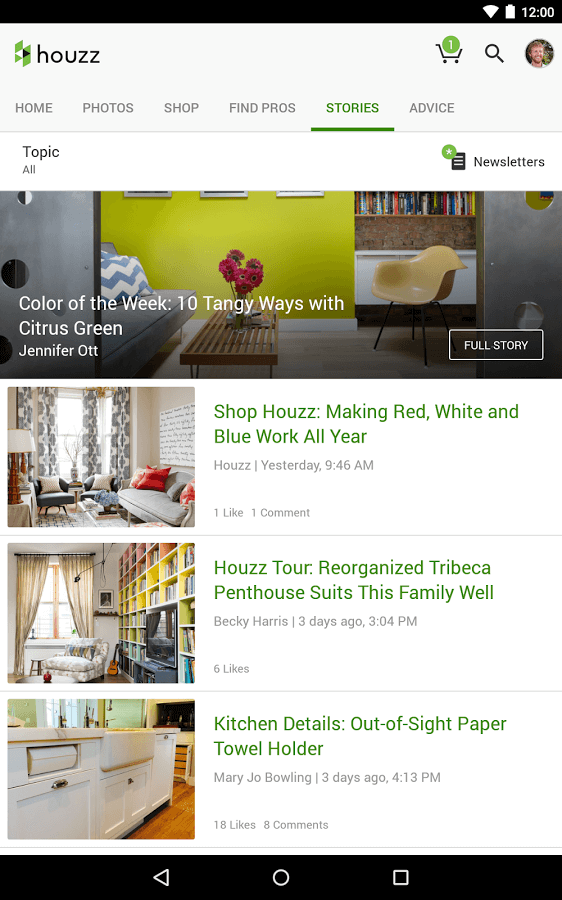 Give advice on Houzz